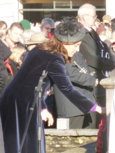 Nikki Barton laying wreath for SCC