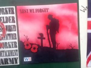 Wey Hill Mural WW1 Centenary