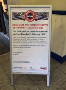 Cycle improvements - Haslemere Station