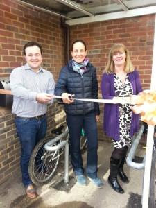 Haslewey Bike Rack Opening