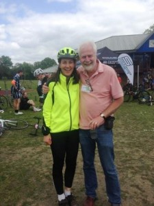 Cllr Nikki Barton with Ken Griffiths, Organiser of Little Lumpy