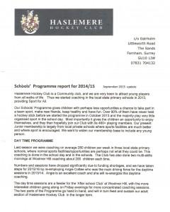Schools Programme 1