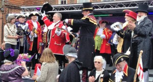 Presentation to the 2016 winner - Lichfield's Town Crier