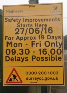 Wey Hill Safety Improvements Notice