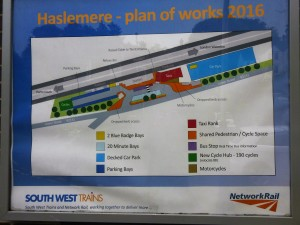 Plan of Works, Poster at the front of Haslemere station