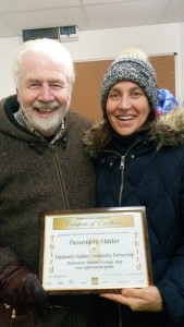 Ken Griffiths (Haslemere Events) and me with the Award certificate
