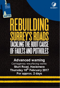 NB Sturt Road Repair